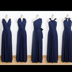 Navy Blue Infinity Dress